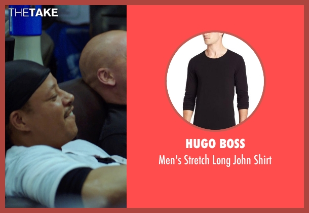 HUGO BOSS black shirt from Sabotage seen with Terrence Howard  (Julius 'Sugar' Edmonds)