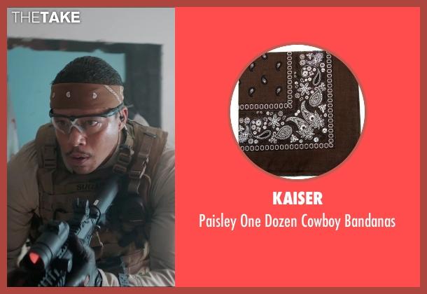 Kaiser brown bandanas from Sabotage seen with Terrence Howard  (Julius 'Sugar' Edmonds)