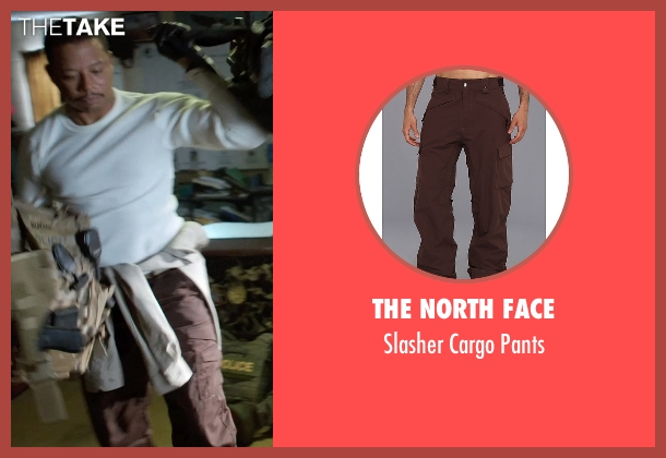 The North Face brown pants from Sabotage seen with Terrence Howard  (Julius 'Sugar' Edmonds)