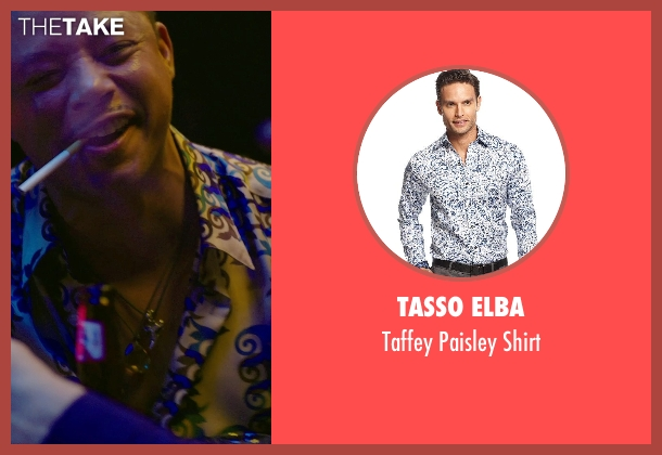 Tasso Elba shirt from Sabotage seen with Terrence Howard  (Julius 'Sugar' Edmonds)