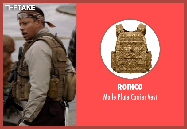 Rothco vest from Sabotage seen with Terrence Howard  (Julius 'Sugar' Edmonds)