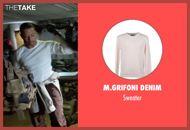 M.GRIFONI DENIM white sweater from Sabotage seen with Terrence Howard  (Julius 'Sugar' Edmonds)
