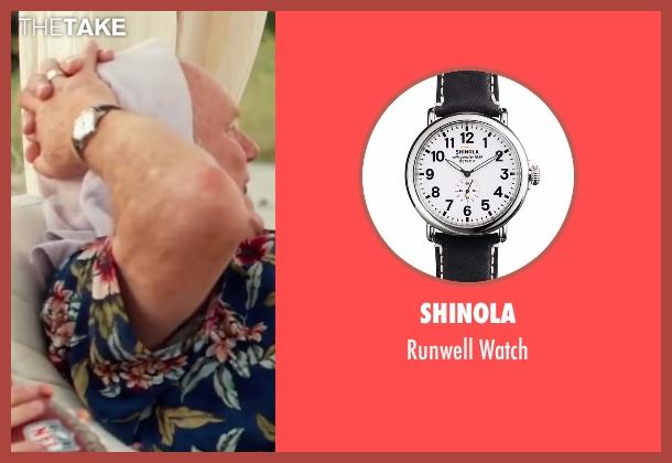 Shinola black watch from Bastards seen with Terry Bradshaw