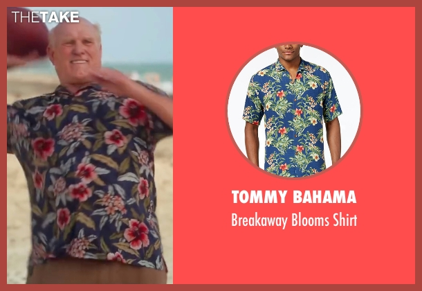 Tommy Bahama blue shirt from Bastards seen with Terry Bradshaw