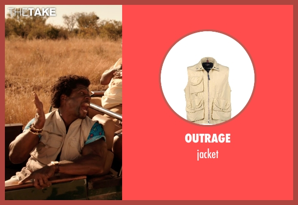 OUTRAGE beige jacket from Blended seen with Terry Crews (Nickens)