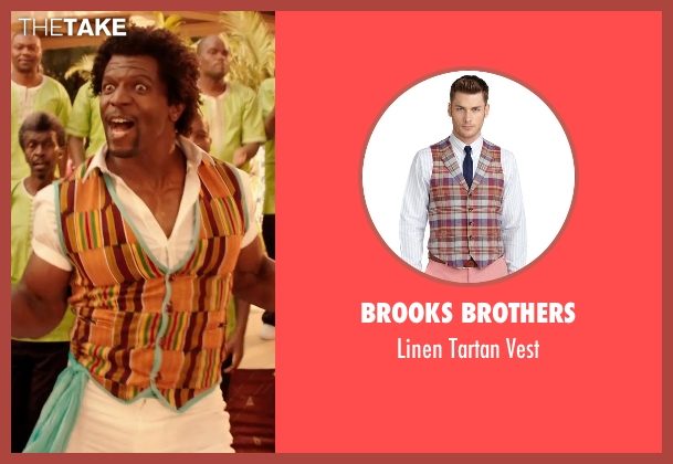 Brooks Brothers orange vest from Blended seen with Terry Crews (Nickens)