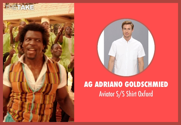 AG Adriano Goldschmied white oxford from Blended seen with Terry Crews (Nickens)