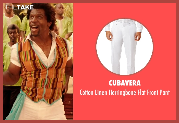 Cubavera white pant from Blended seen with Terry Crews (Nickens)