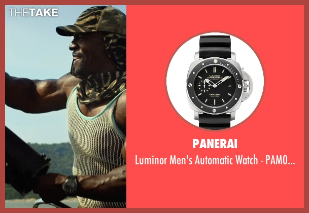 Panerai black pam00389 from The Expendables 3 seen with Terry Crews (Caesar)