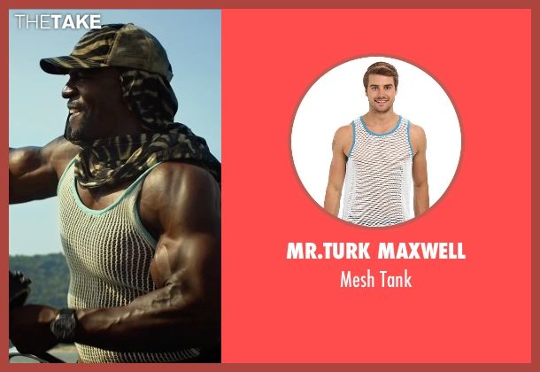 Mr.Turk Maxwell white tank from The Expendables 3 seen with Terry Crews (Caesar)