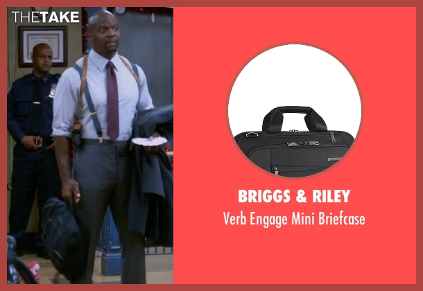 Briggs & Riley black briefcase from Brooklyn Nine-Nine seen with Terry Jeffords  (Terry Crews)