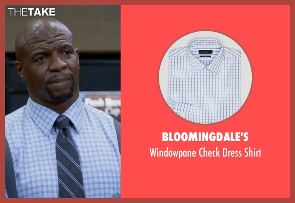 Bloomingdale's blue shirt from Brooklyn Nine-Nine seen with Terry Jeffords  (Terry Crews)