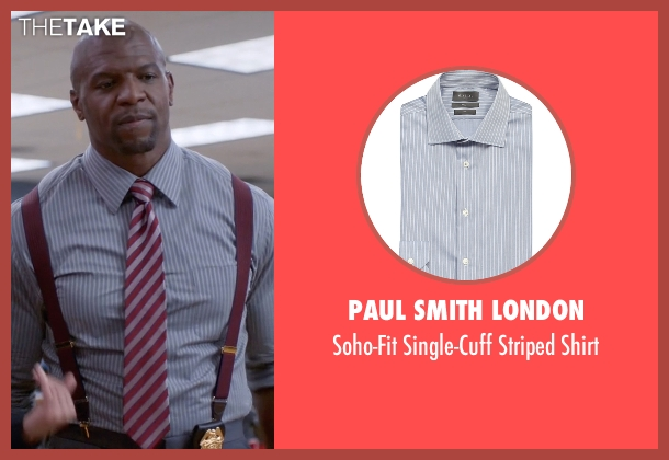 Paul Smith London blue shirt from Brooklyn Nine-Nine seen with Terry Jeffords  (Terry Crews)