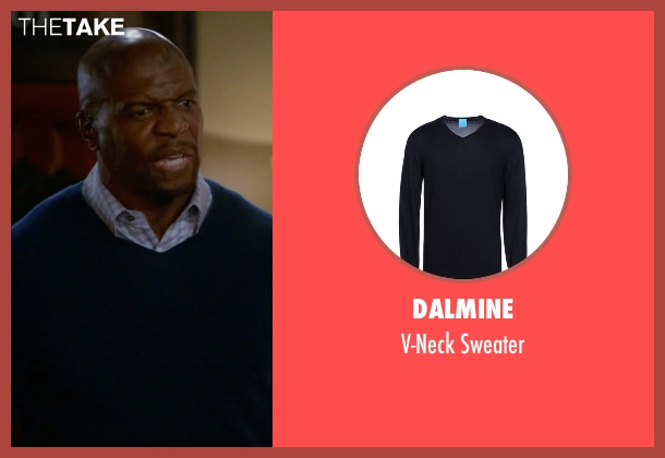 Dalmine blue sweater from Brooklyn Nine-Nine seen with Terry Jeffords  (Terry Crews)