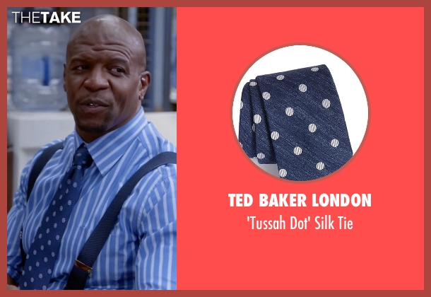 Ted Baker London blue tie from Brooklyn Nine-Nine seen with Terry Jeffords  (Terry Crews)