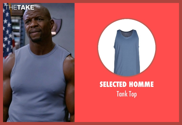 Selected Homme blue top from Brooklyn Nine-Nine seen with Terry Jeffords  (Terry Crews)