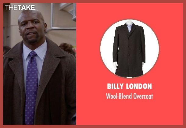 Billy London brown overcoat from Brooklyn Nine-Nine seen with Terry Jeffords  (Terry Crews)
