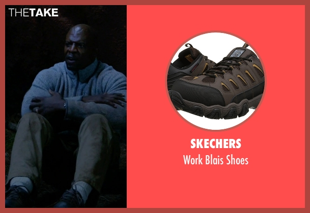 Skechers brown shoes from Brooklyn Nine-Nine seen with Terry Jeffords  (Terry Crews)