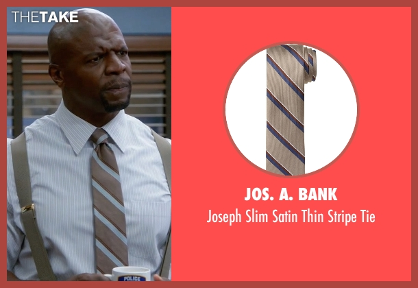 Jos. A. Bank brown tie from Brooklyn Nine-Nine seen with Terry Jeffords  (Terry Crews)