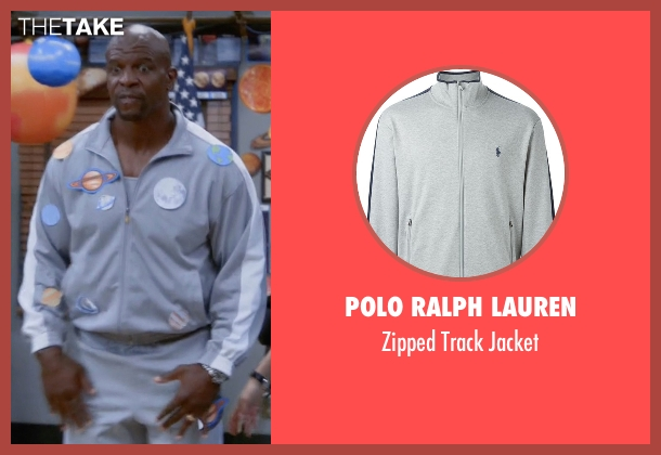 Polo Ralph Lauren gray jacket from Brooklyn Nine-Nine seen with Terry Jeffords  (Terry Crews)