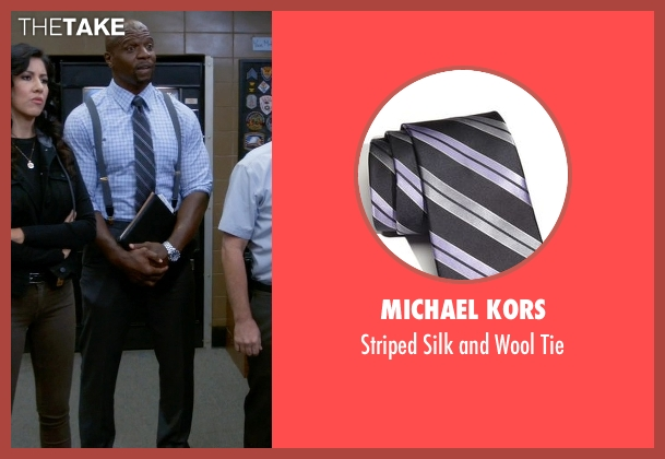 Michael Kors gray tie from Brooklyn Nine-Nine seen with Terry Jeffords  (Terry Crews)