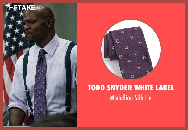 Todd Snyder White Label purple tie from Brooklyn Nine-Nine seen with Terry Jeffords  (Terry Crews)