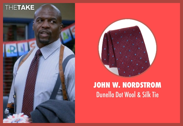 John W. Nordstrom red tie from Brooklyn Nine-Nine seen with Terry Jeffords  (Terry Crews)