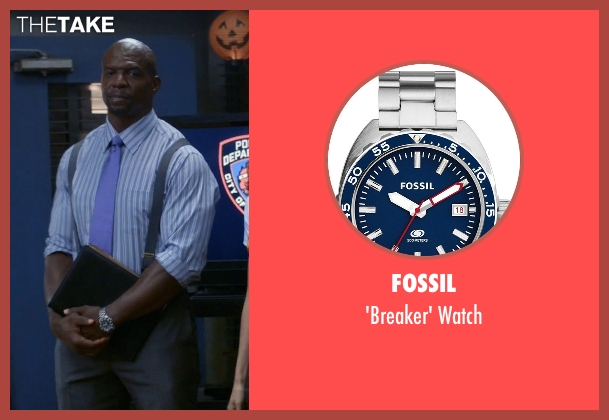 Fossil silver watch from Brooklyn Nine-Nine seen with Terry Jeffords  (Terry Crews)