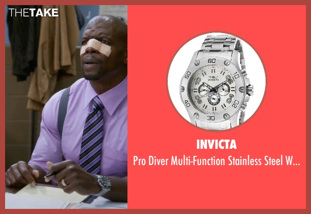 Invicta silver watch from Brooklyn Nine-Nine seen with Terry Jeffords  (Terry Crews)