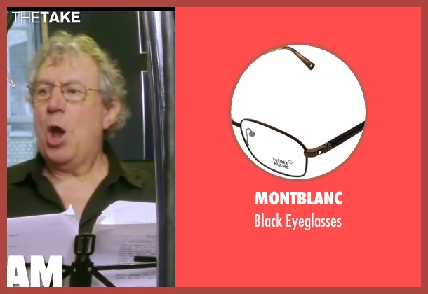 Montblanc black eyeglasses from Absolutely Anything seen with Terry Jones (Extraterrestrial (voice))