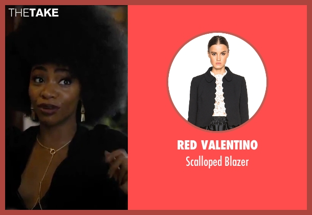 Red Valentino black blazer from Chi-Raq seen with Teyonah Parris (Lysistrata)
