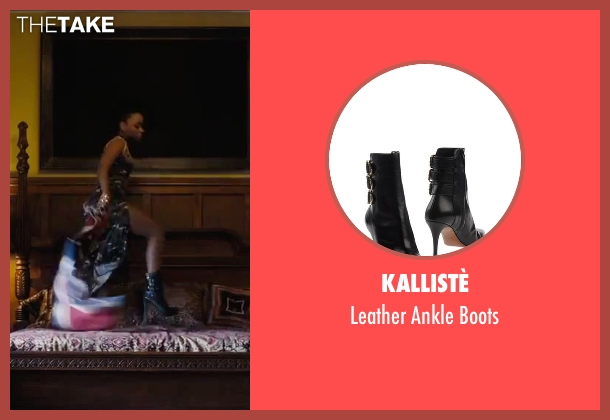 Kallistè black boots from Chi-Raq seen with Teyonah Parris (Lysistrata)