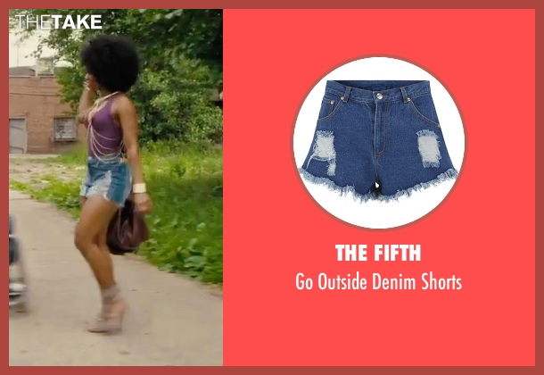 The Fifth blue shorts from Chi-Raq seen with Teyonah Parris (Lysistrata)