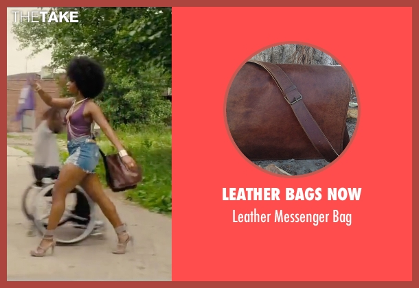 Leather Bags Now brown bag from Chi-Raq seen with Teyonah Parris (Lysistrata)