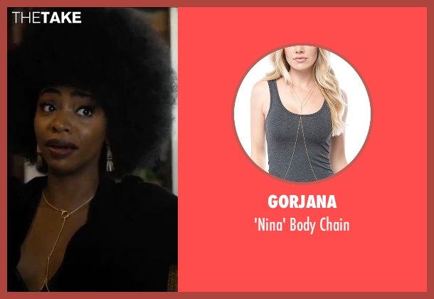 Gorjana gold chain from Chi-Raq seen with Teyonah Parris (Lysistrata)