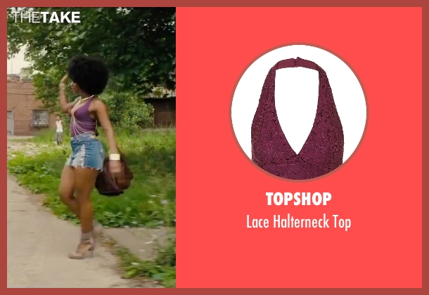 Topshop purple top from Chi-Raq seen with Teyonah Parris (Lysistrata)