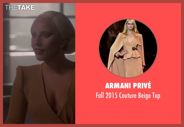 Armani Privé beige top from American Horror Story seen with The Countess (Lady Gaga)