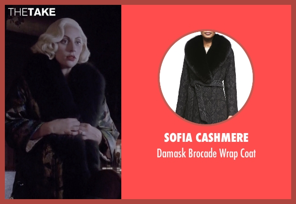 Sofia Cashmere black coat from American Horror Story seen with The Countess (Lady Gaga)