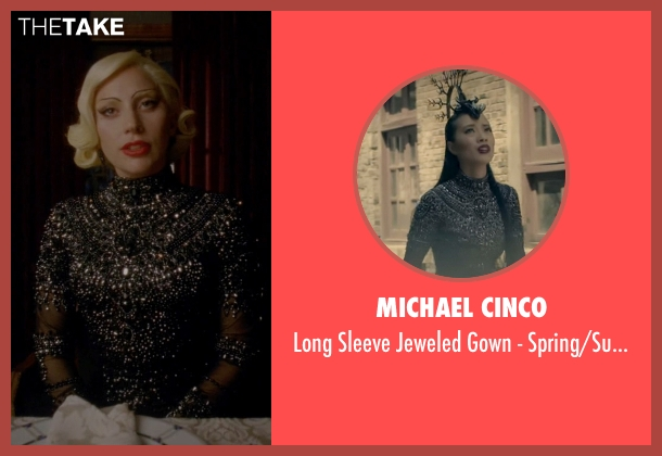 Michael Cinco black collection from American Horror Story seen with The Countess (Lady Gaga)