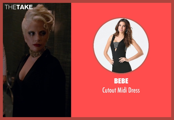 Bebe black dress from American Horror Story seen with The Countess (Lady Gaga)