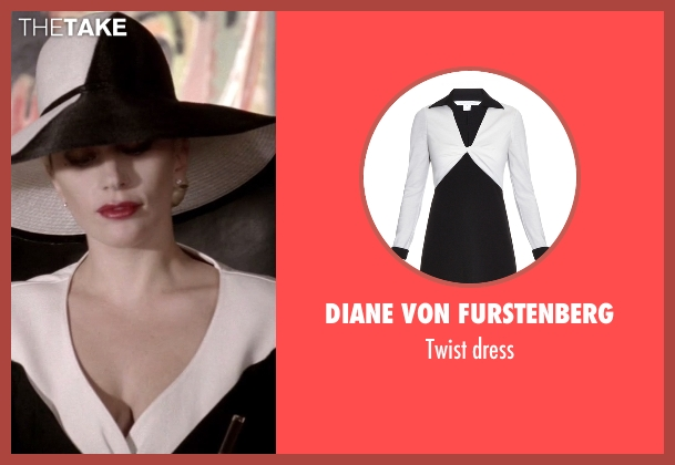 Diane Von Furstenberg black dress from American Horror Story seen with The Countess (Lady Gaga)