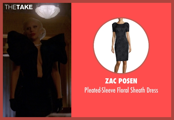 Zac Posen black dress from American Horror Story seen with The Countess (Lady Gaga)