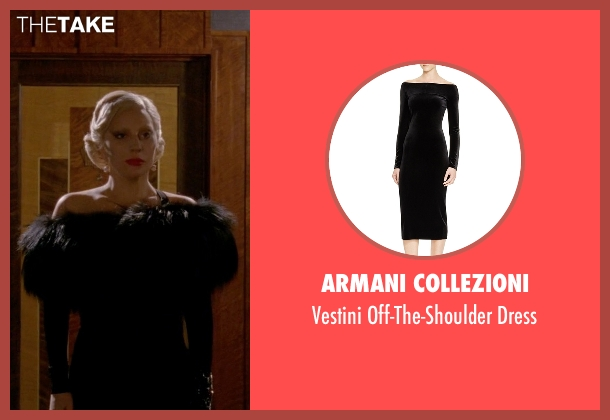 Armani Collezioni black dress from American Horror Story seen with The Countess (Lady Gaga)