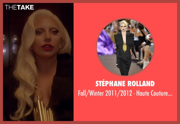 Stéphane Rolland black gown from American Horror Story seen with The Countess (Lady Gaga)