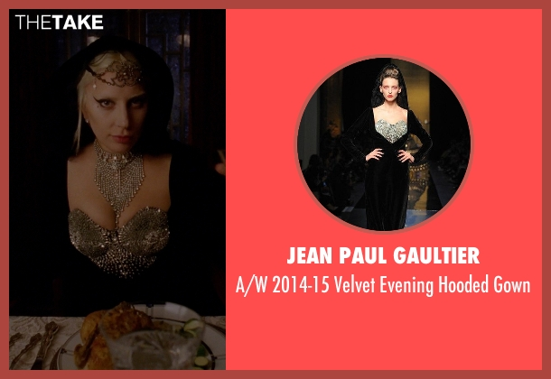 Jean Paul Gaultier black gown from American Horror Story seen with The Countess (Lady Gaga)