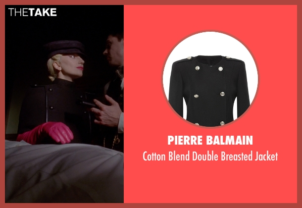 Pierre Balmain black jacket from American Horror Story seen with The Countess (Lady Gaga)