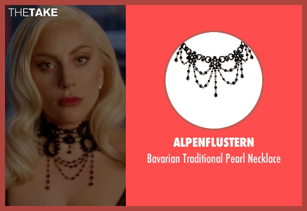 Alpenflustern black necklace from American Horror Story seen with The Countess (Lady Gaga)