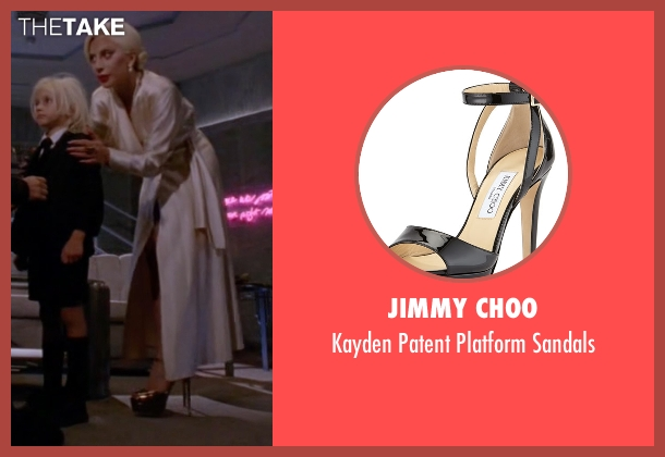 Jimmy Choo black sandals from American Horror Story seen with The Countess (Lady Gaga)