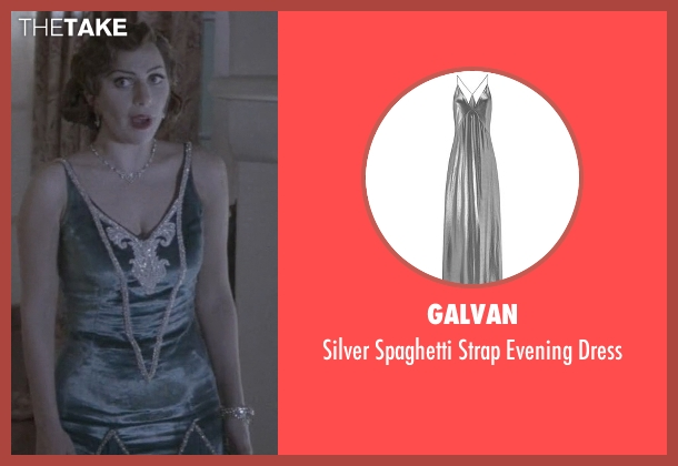 Galvan gray dress from American Horror Story seen with The Countess (Lady Gaga)