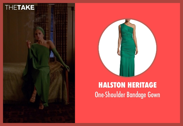 Halston Heritage green gown from American Horror Story seen with The Countess (Lady Gaga)